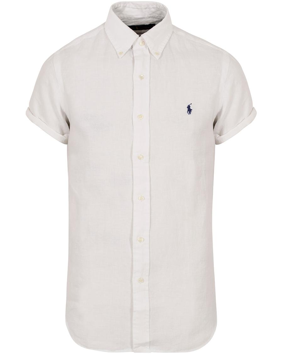 c2087a9e Polo Ralph Lauren Core Fit Short Sleeve Linen Shirt White hos Car