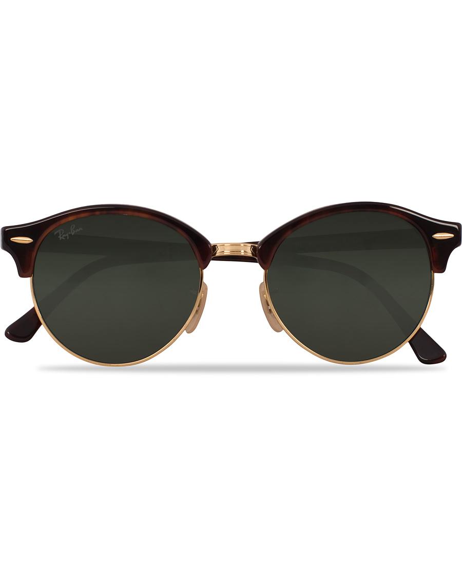 2b09f74bdf3 Ray-Ban 0RB4246 Clubmaster Sunglasses Red Havana Green hos CareO