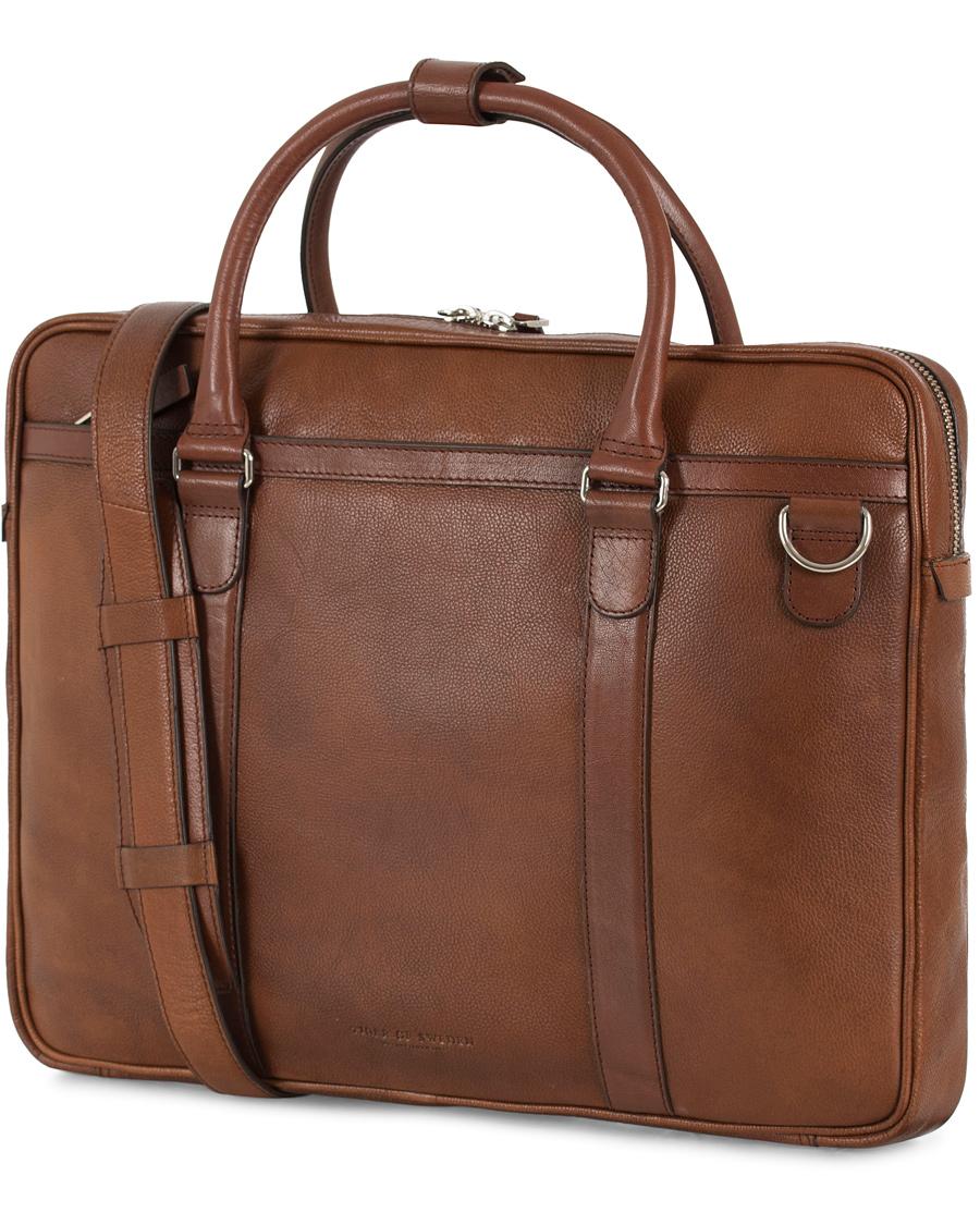 55c5abd9 Tiger of Sweden Marquet Leather Briefcase Brown hos CareOfCarl.n