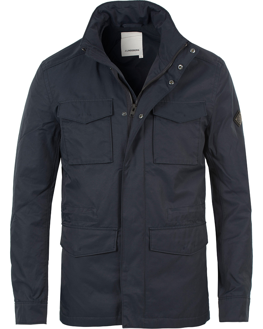 Topmoderne J.Lindeberg Farren 72 Cotton Twill Field Jacket Navy hos CareOfCa PK-59