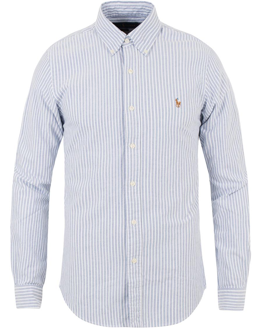 52b4da8538f Polo Ralph Lauren Slim Fit Oxford Stripe Shirt Blue/White hos Car