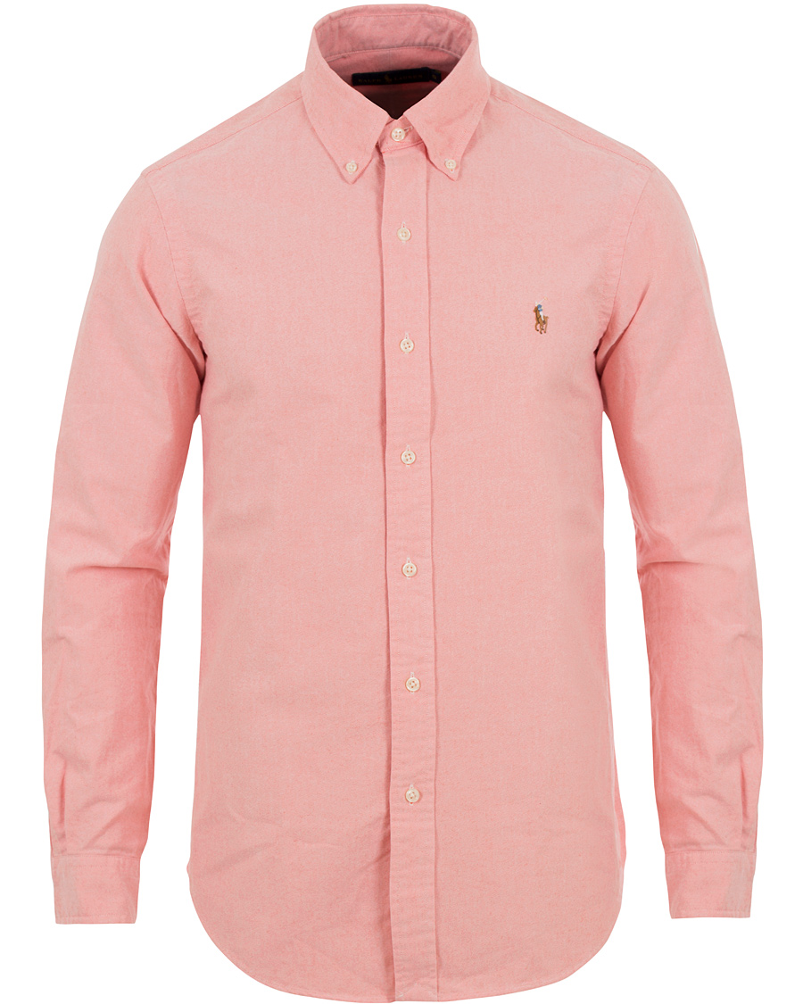 Polo Ralph Lauren Custom Fit Oxford Shirt Pink hos CareOfCarl.no