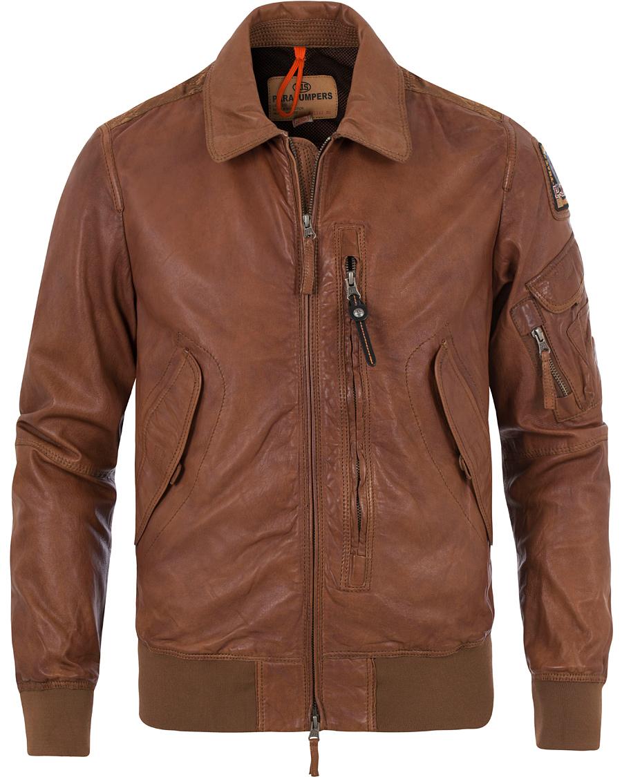 28d6c5df Parajumpers Brigadier Leather Jacket Cognac hos CareOfCarl.no