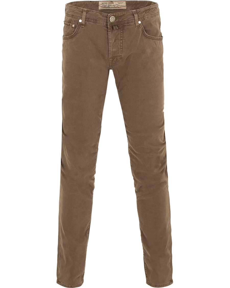 Jacob Cohen 622 Slim Fit 5 Pocket Trousers Light Brown