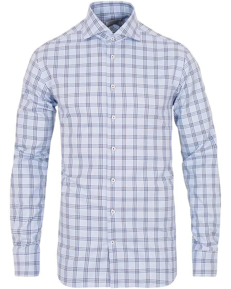 Blue Check Shirt  Stenströms  Langermede skjorter - Herreklær er billig