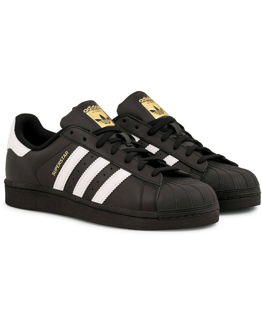 Adidas Originals Superstar Leather Sneaker Black hos