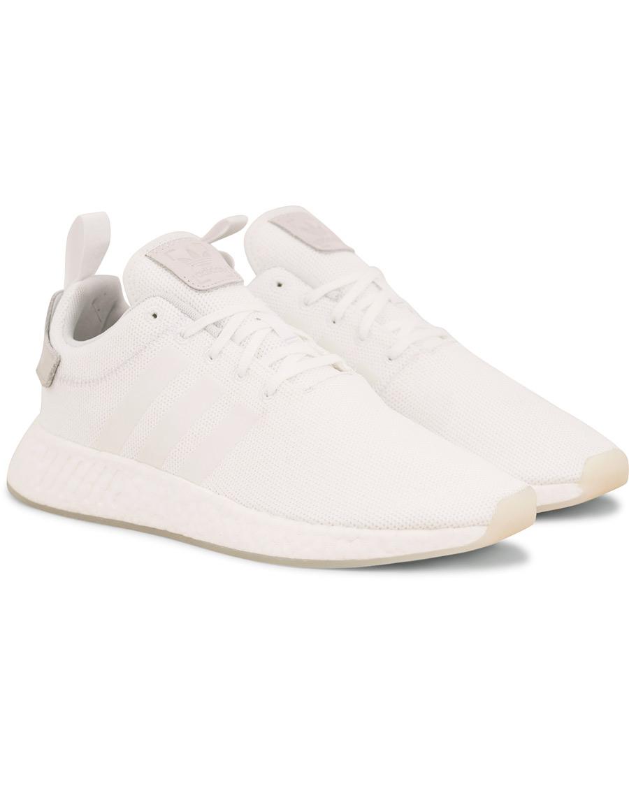 Adidas Originals NMD_R2 Running Sneaker White hos CareOfCarl.no