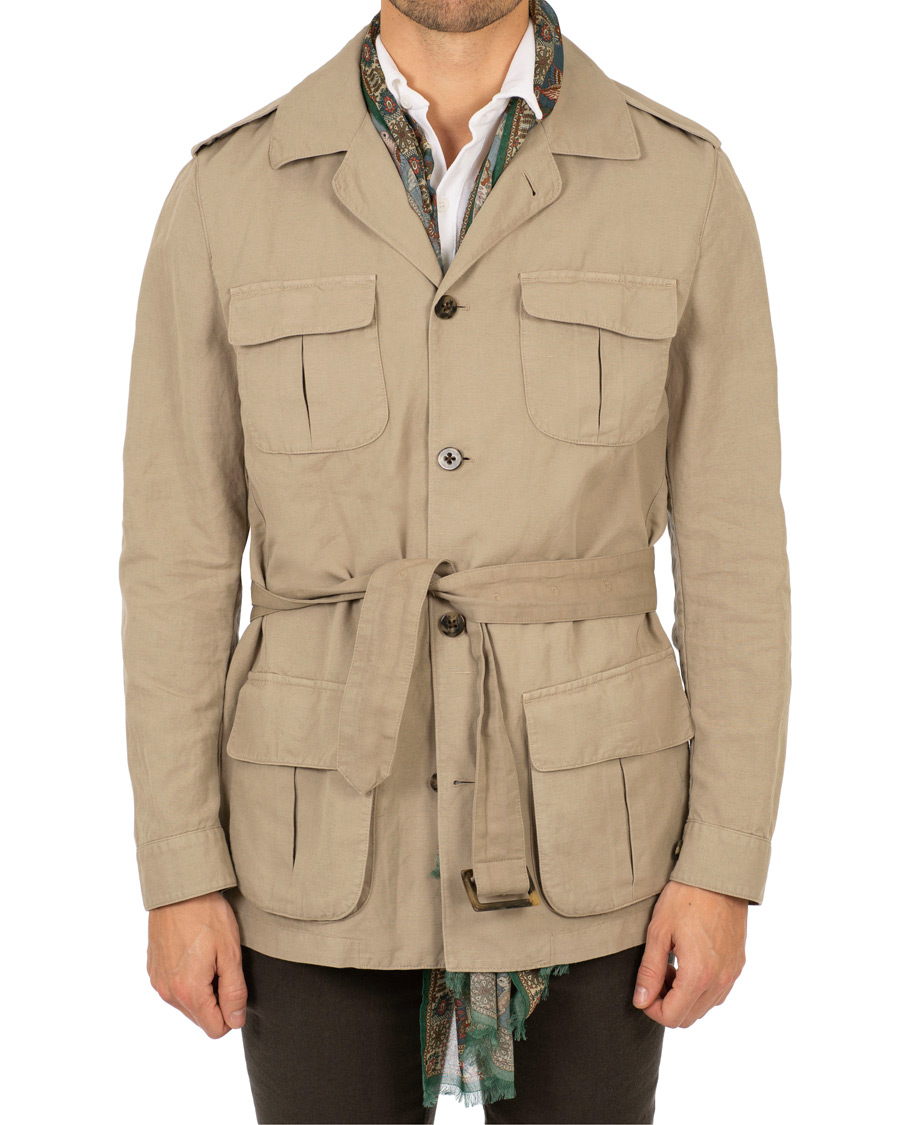 Stenströms CottonLinen Safari Jacket Beige hos CareOfCarl.no