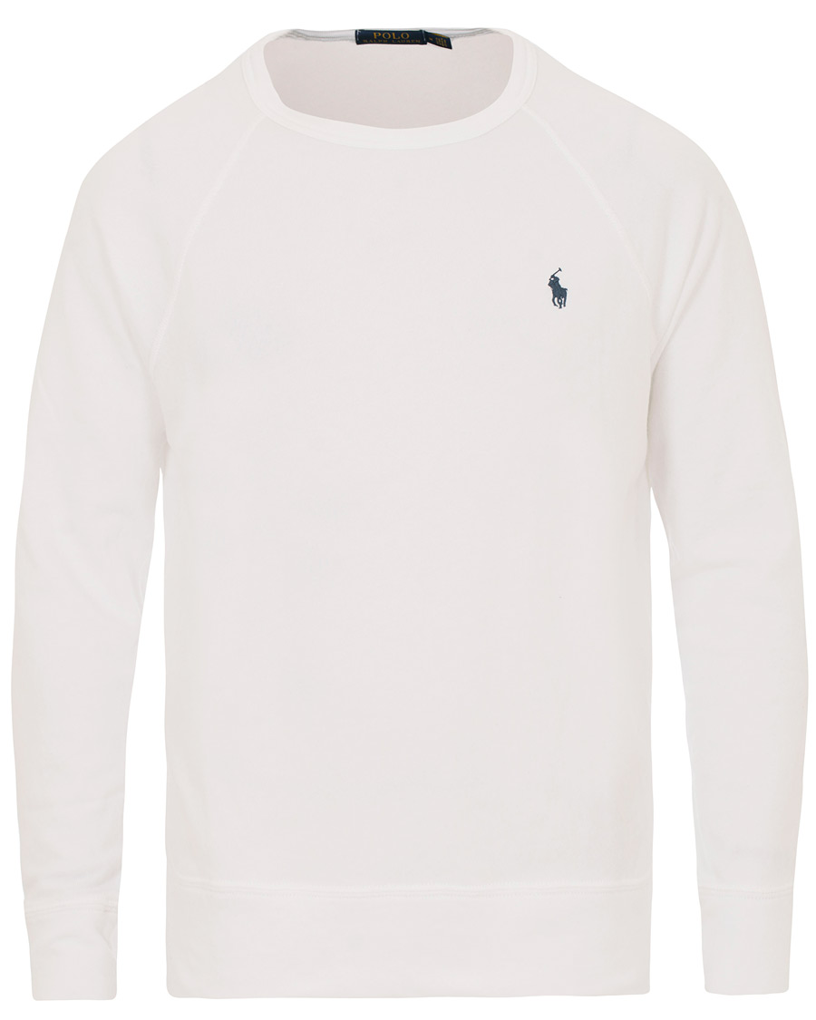 2f8645ff ... reduced polo ralph lauren spa terry crew neck sweater white 919b6 4a81a