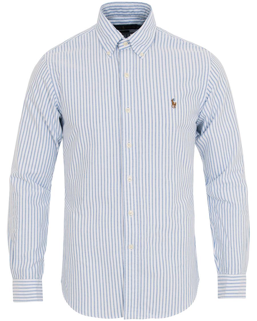 cba1b4d62491 Polo Ralph Lauren Slim Fit Oxford Stripe Button Down Shirt Blue/White
