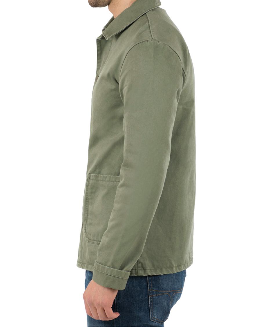 A.P.C Kerlouan Jacket Washed Green hos CareOfCarl.no