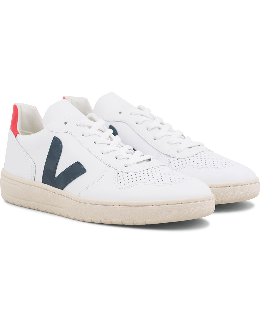 Veja V 10 Leather Sneaker Extra WhiteNautico Pekin 40