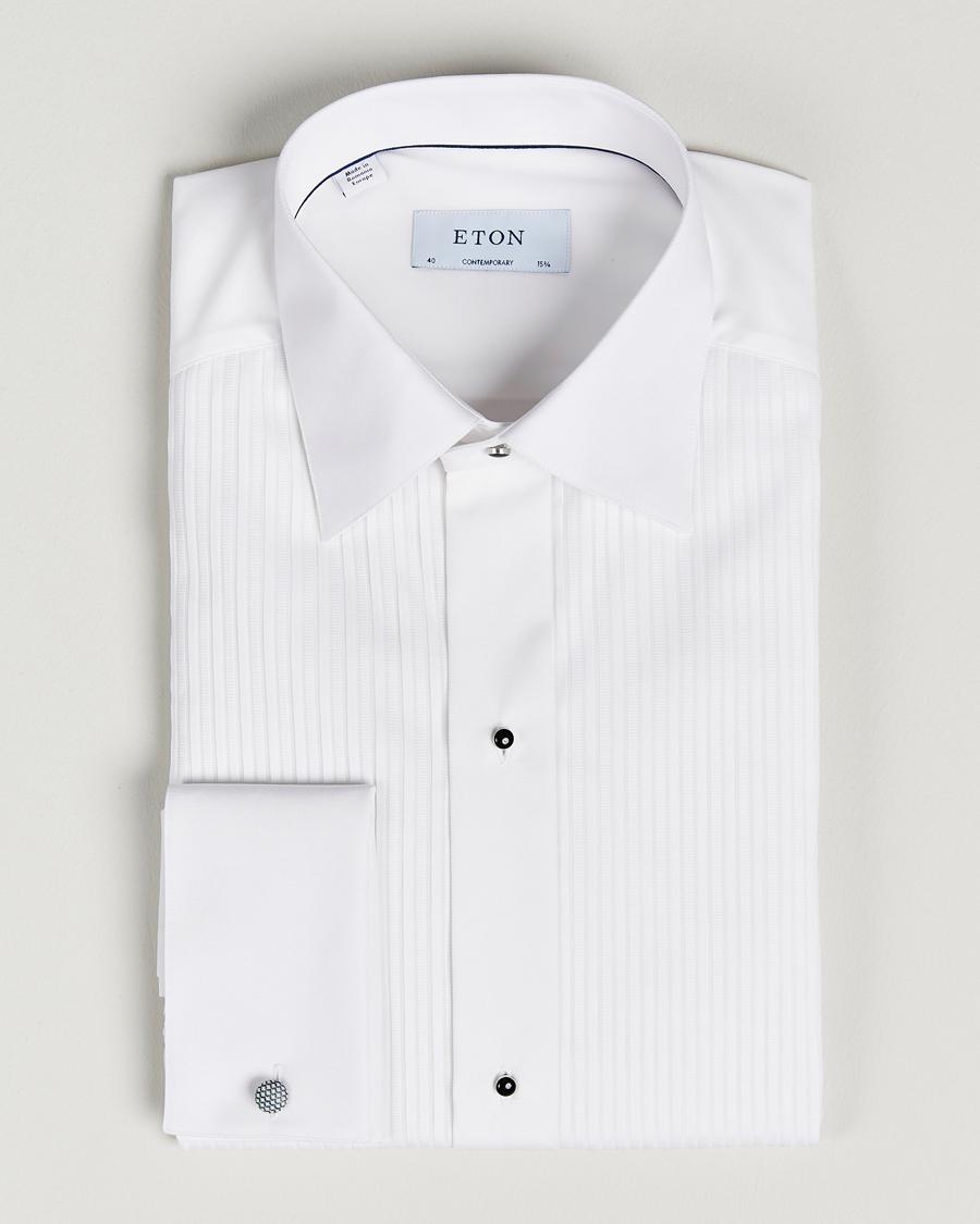 White Dobbel Mansjett Skjorte  Eton  Dress-skjorter - Herreklær er billig