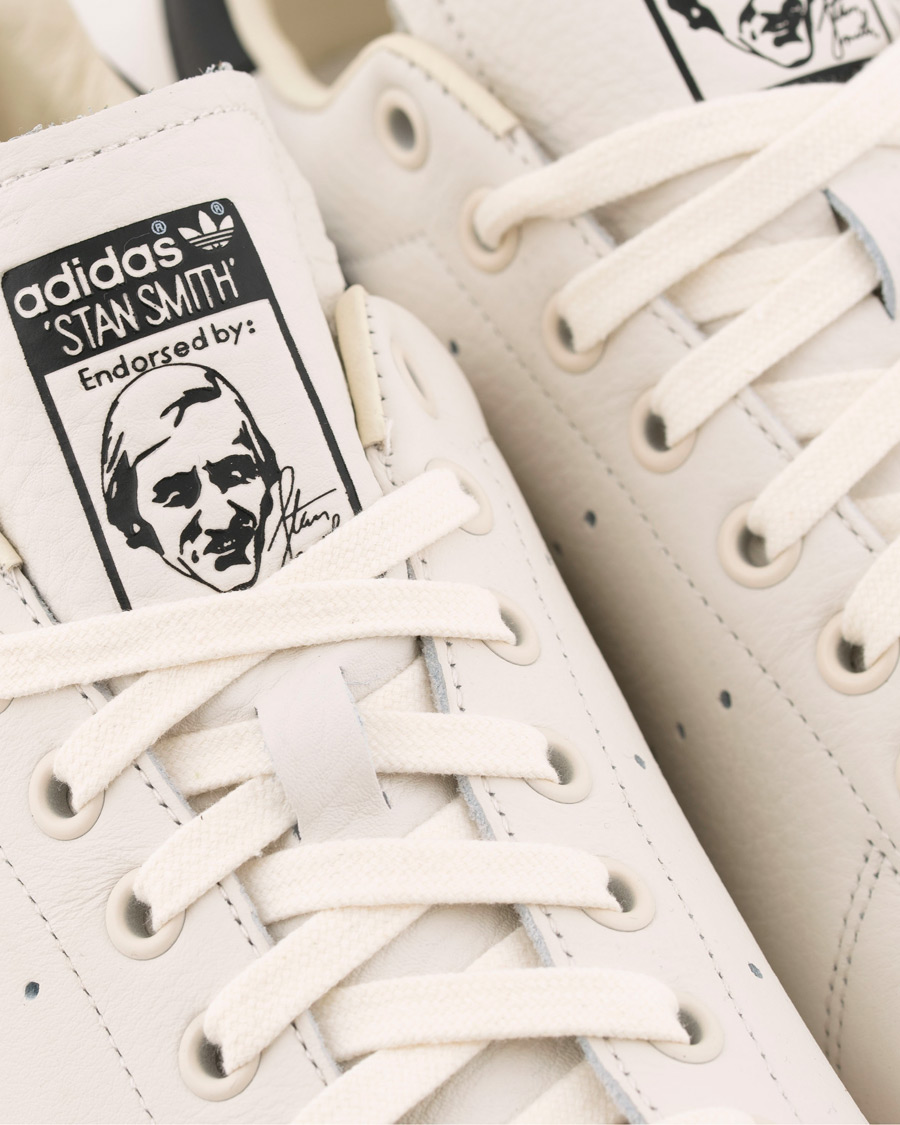 adidas Originals Stan Smith Leather Sneaker WhiteBlack hos