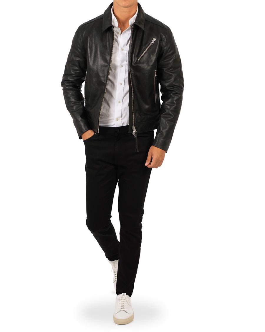 1d4f6e8c Tiger of Sweden Jeans Tracker Leather Jacket Black hos CareOfCarl