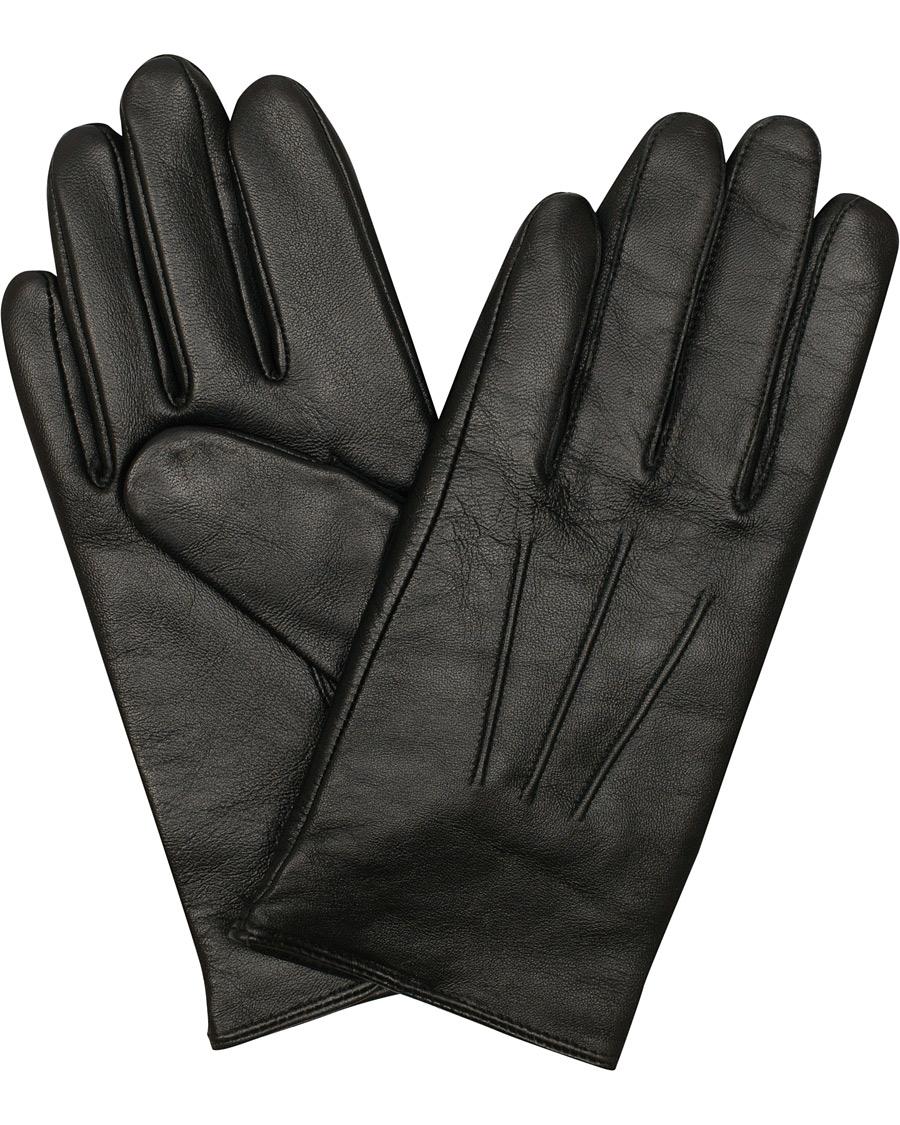 e5e2a3a090c478 BOSS Hainz Leather Gloves Black hos CareOfCarl.no