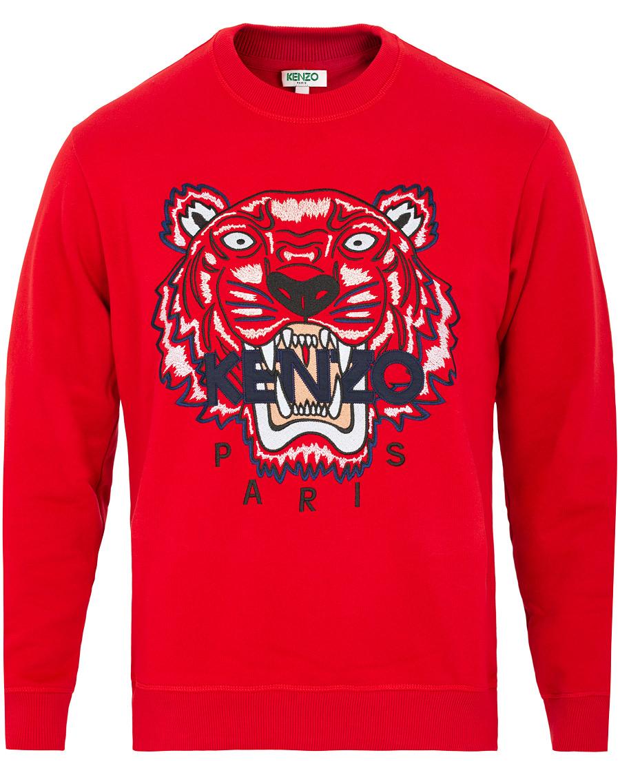 ef8a9ce9 KENZO Tiger Classic Sweatshirt Red hos CareOfCarl.no