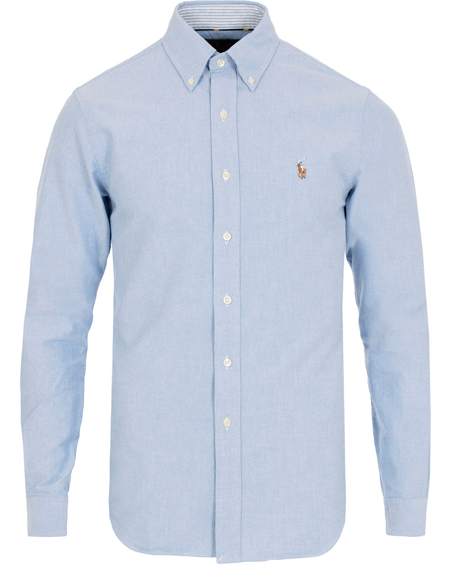 89e15770d256e Polo Ralph Lauren Slim Fit Contrast Oxford Shirt Blue hos CareOfC