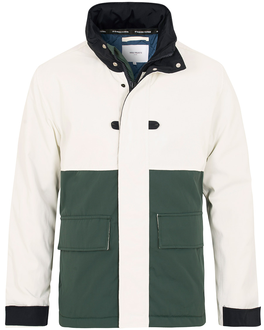 08009eb1 Norse Projects Ystad Nautical Primaloft Insulated Jacket White/Green