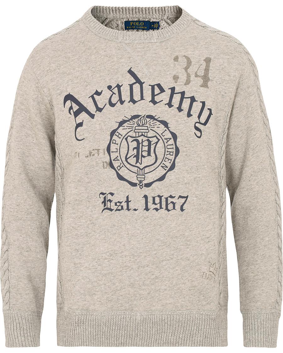 Polo Ralph Lauren Knitted Bear Sweater Grey Heather S