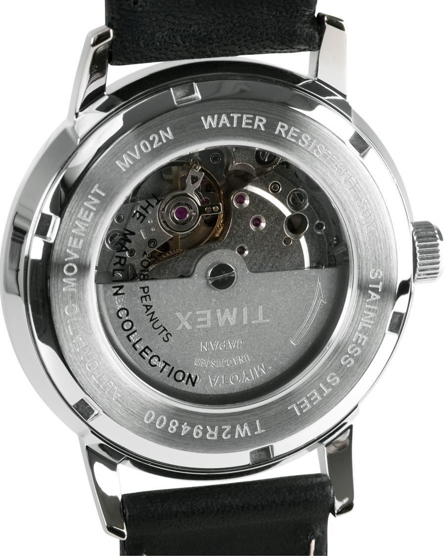 99e154712 Timex Marlin Snoopy Automatic Silver Dial Black hos CareOfCarl.n