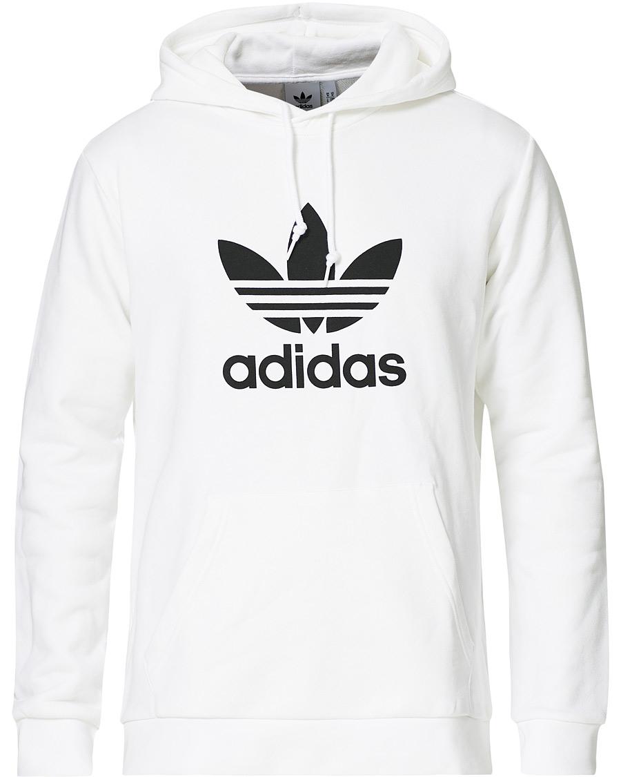 Svart og hvit Adidas hettegenser med korte armer