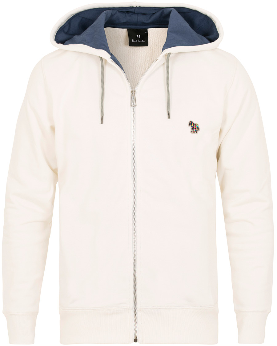 12f80572 PS by Paul Smith Logo Full Zip Hoodie Off White hos CareOfCarl.no