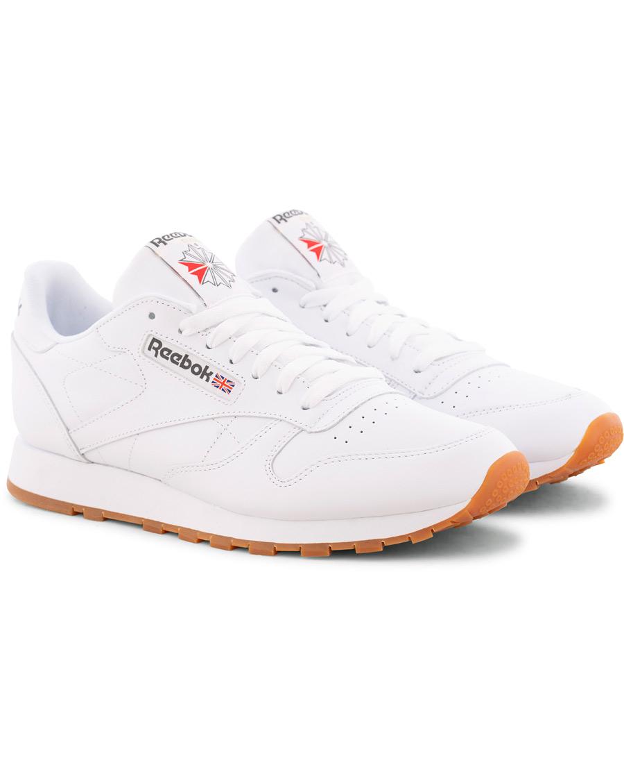 49799 Reebok Classic Leather White MAN Tennis Shoes