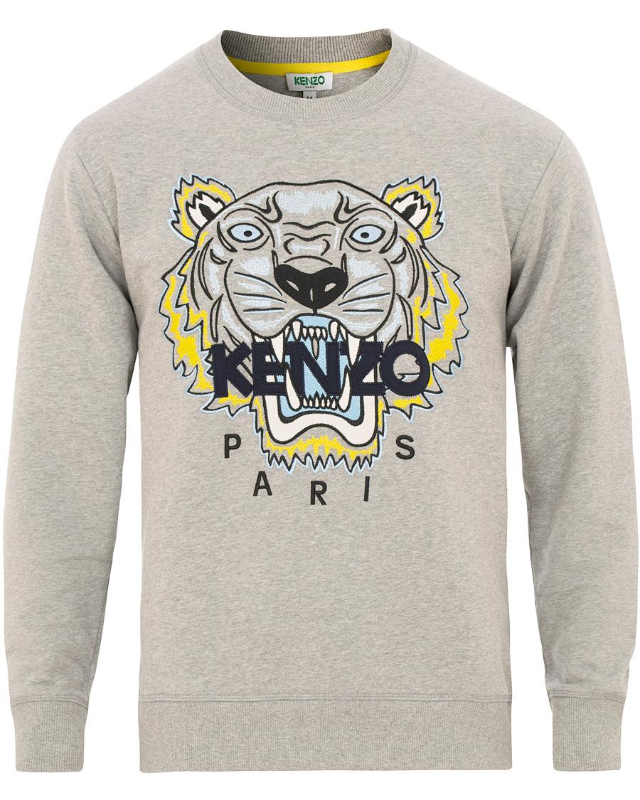 e583f9ea Kenzo Tiger Classic Sweatshirt Grey Melange hos CareOfCarl.no