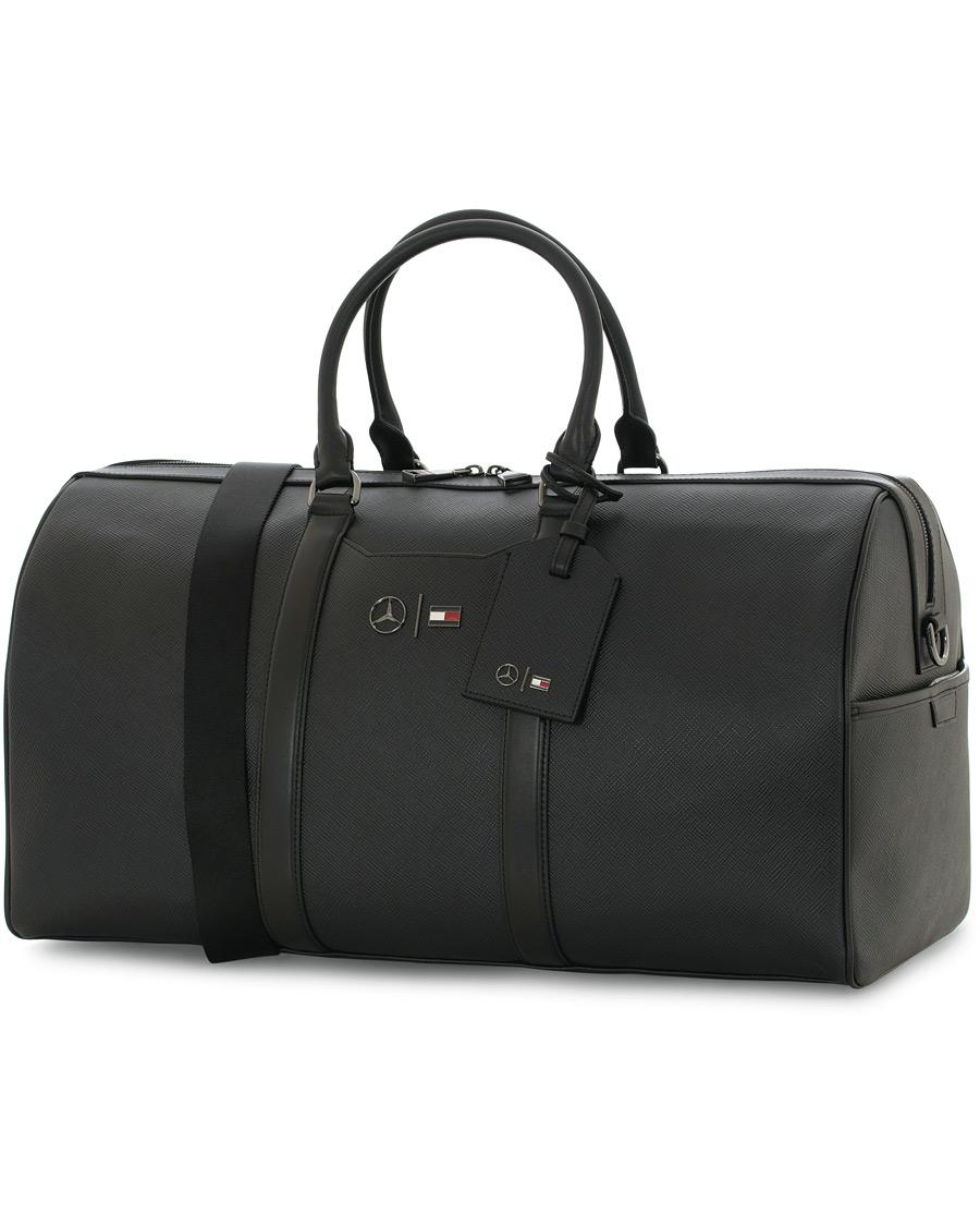 tommy hilfiger mercedes benz leather weekendbag black hos. Black Bedroom Furniture Sets. Home Design Ideas