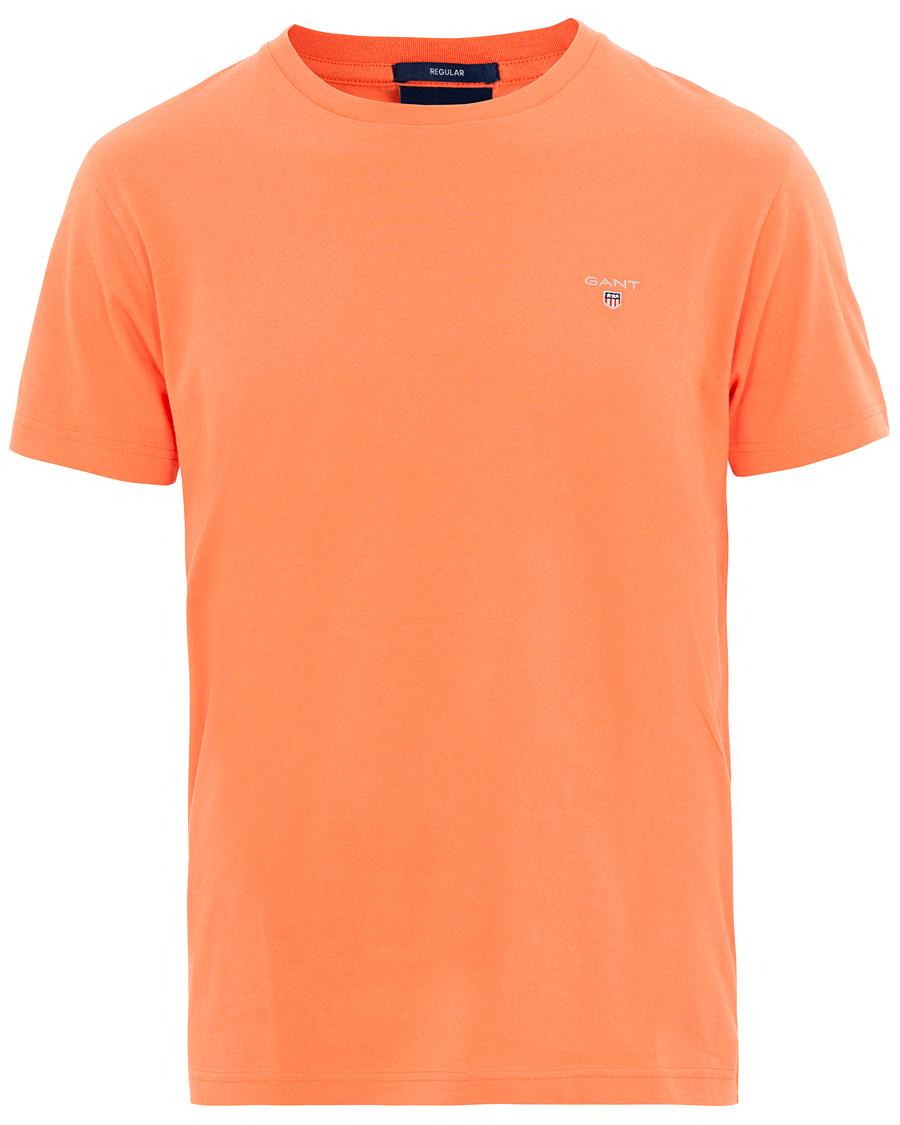 brett utbud nyanlända nya lägre priser GANT Original Crew Neck Tee Coral Orange hos CareOfCarl.no