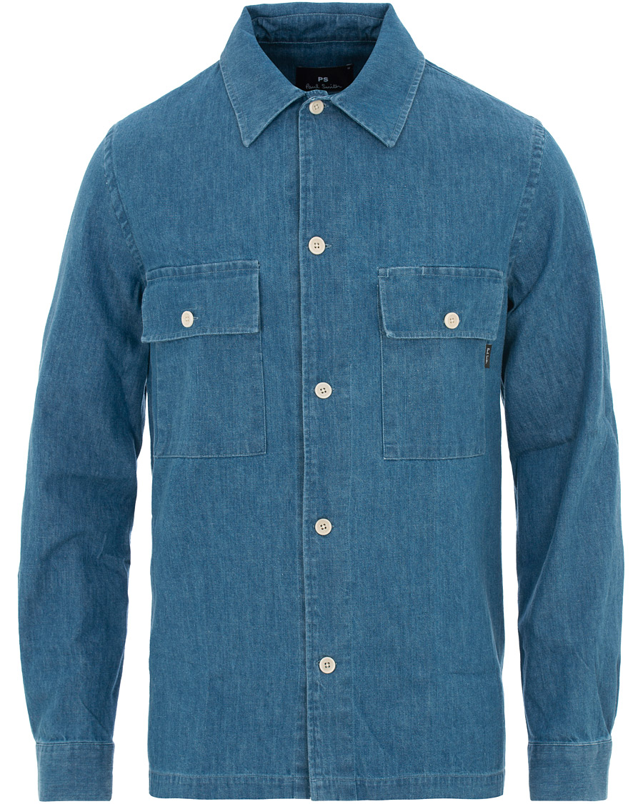 30547de0 PS by Paul Smith Denim Overshirt Medium Wash hos CareOfCarl.no