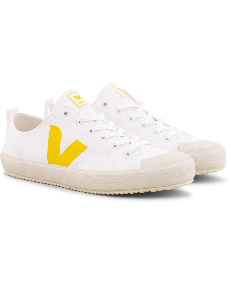 Veja Nova Canvas Sneaker WhiteGold Yellow hos CareOfCarl.no