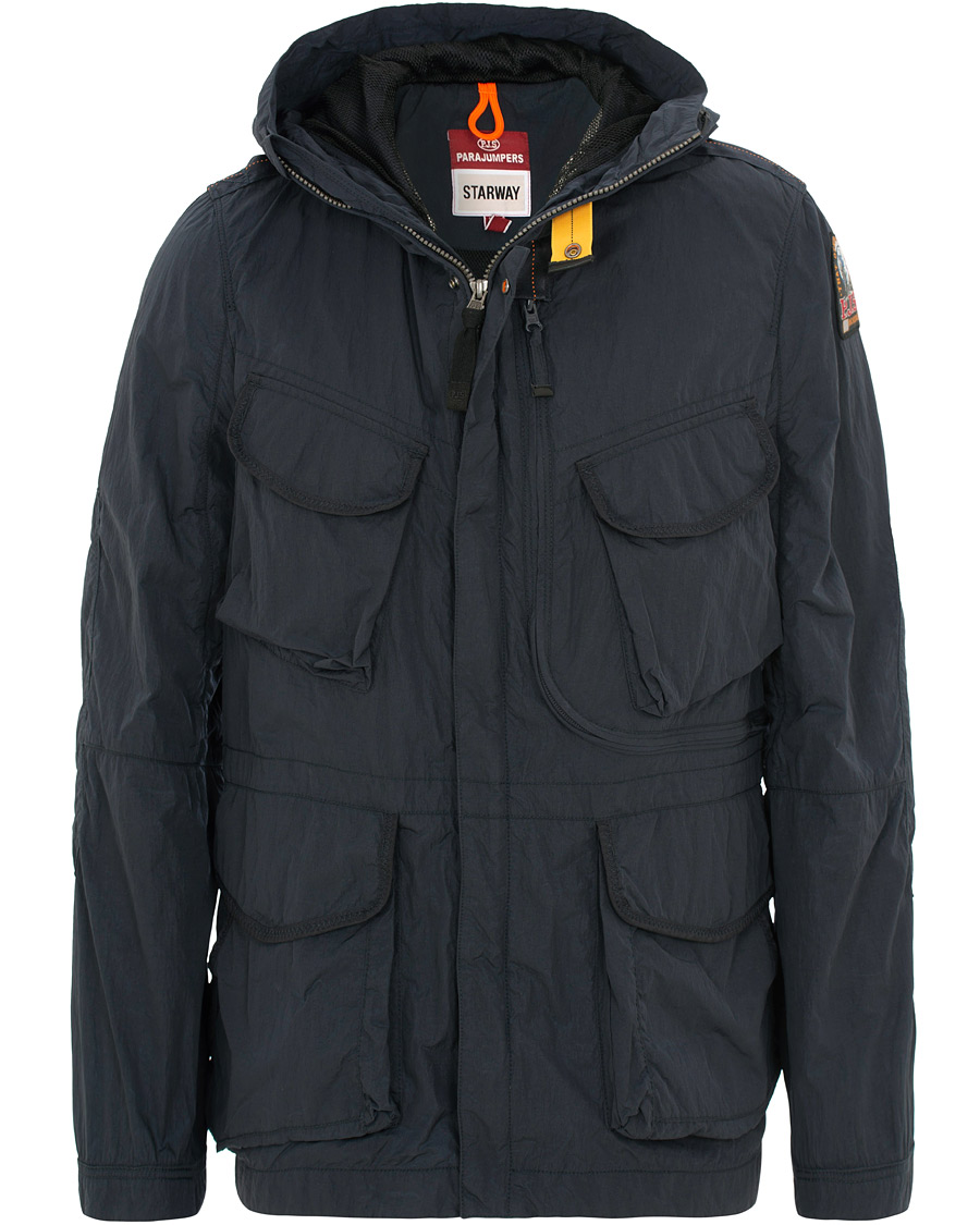 847bf702f Parajumpers Dubhe Starway Garment Dyed Hooded Jacket Navy hos Car