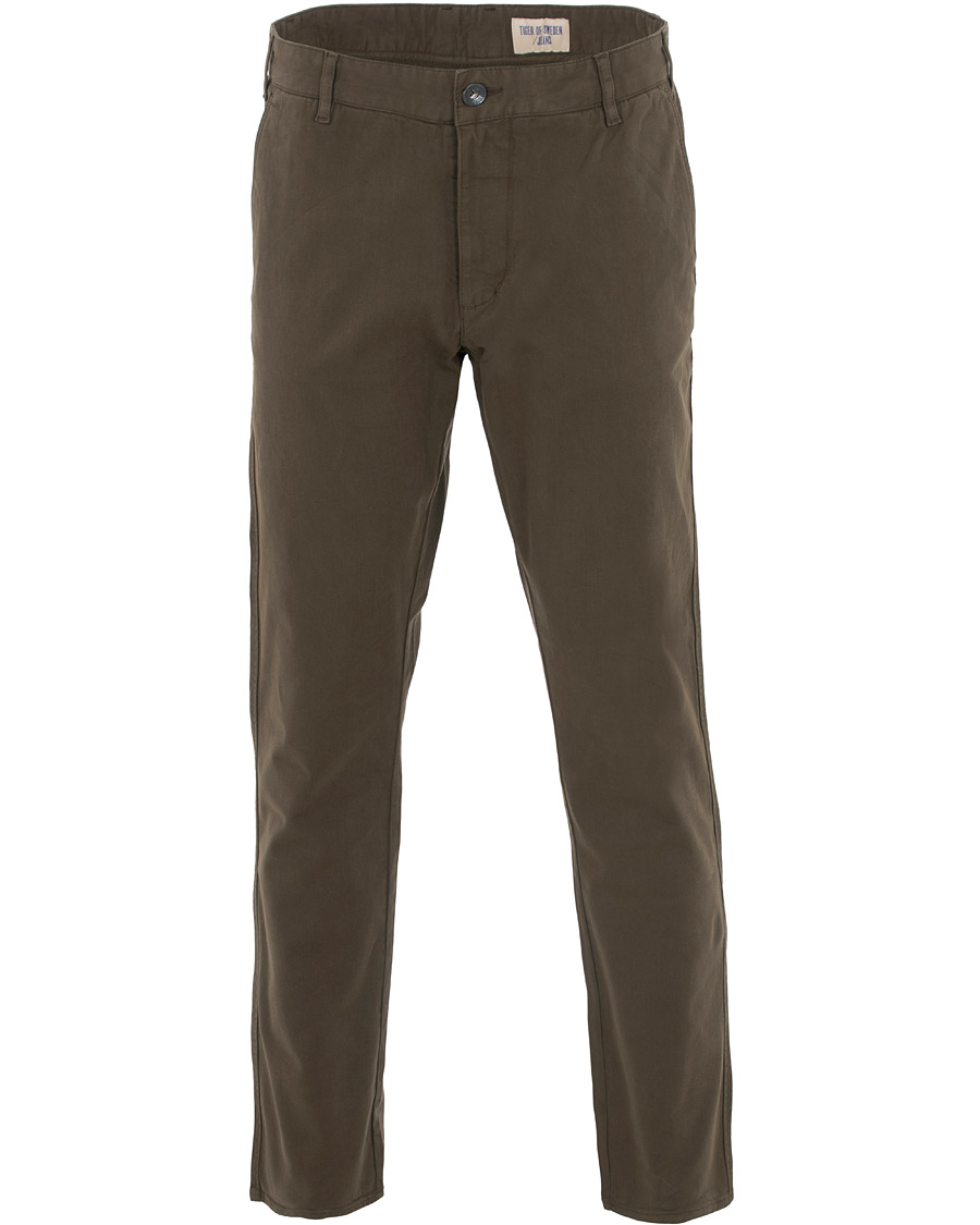 Brown Pant Bukser Med Høyt Liv | MOS MOSH | Slim fit bukser
