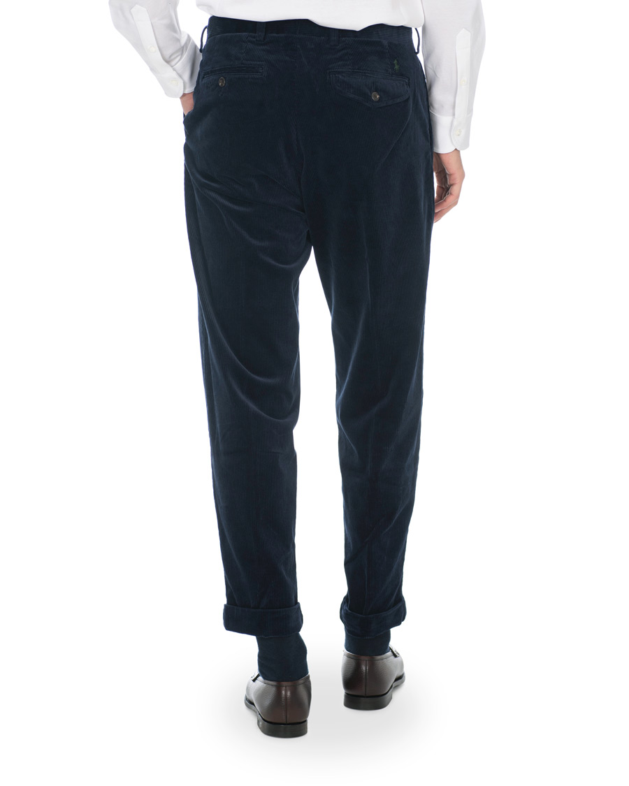 Polo Ralph Lauren Corduroy Pleated Turn Up Pants Cruise Navy W30L32