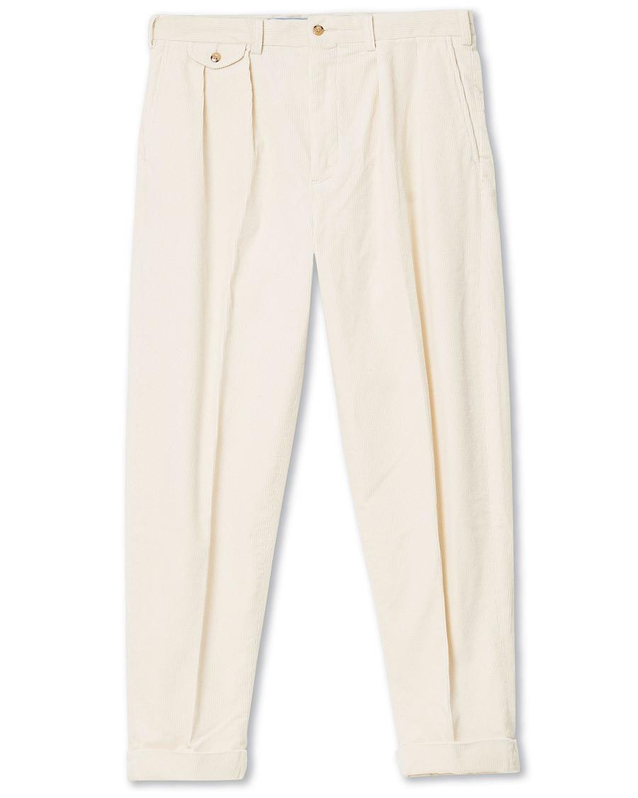 Polo Ralph Lauren Corduroy Pleated Turn Up Pants Andover Cream W30L32