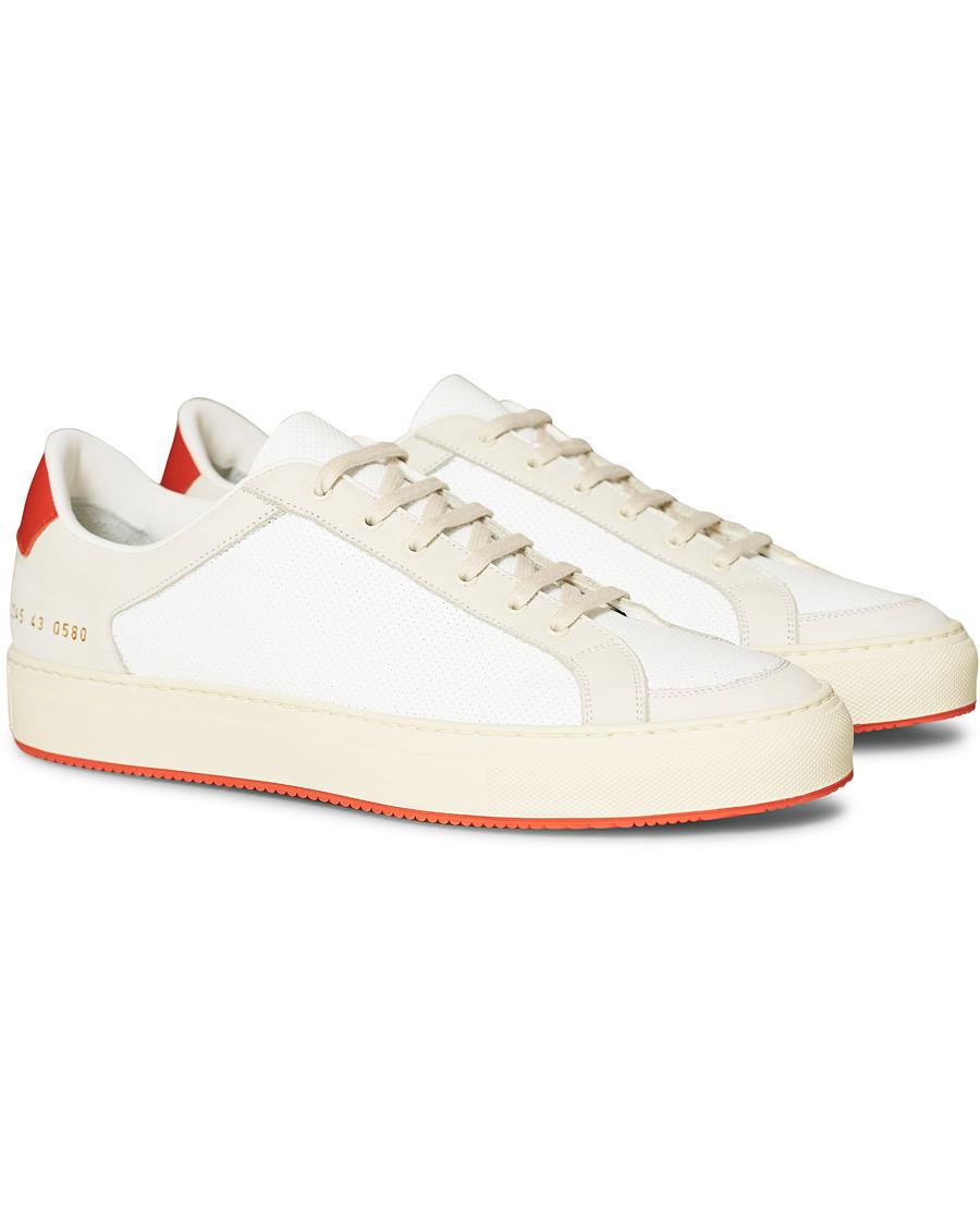 Common Projects Retro Achilles Sneaker WhiteOrange 40