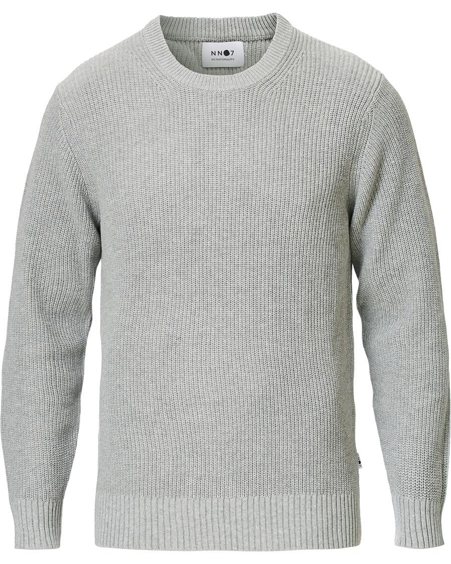 NN07 Knut Cotton Ribbed Crew Neck Medium Grey S