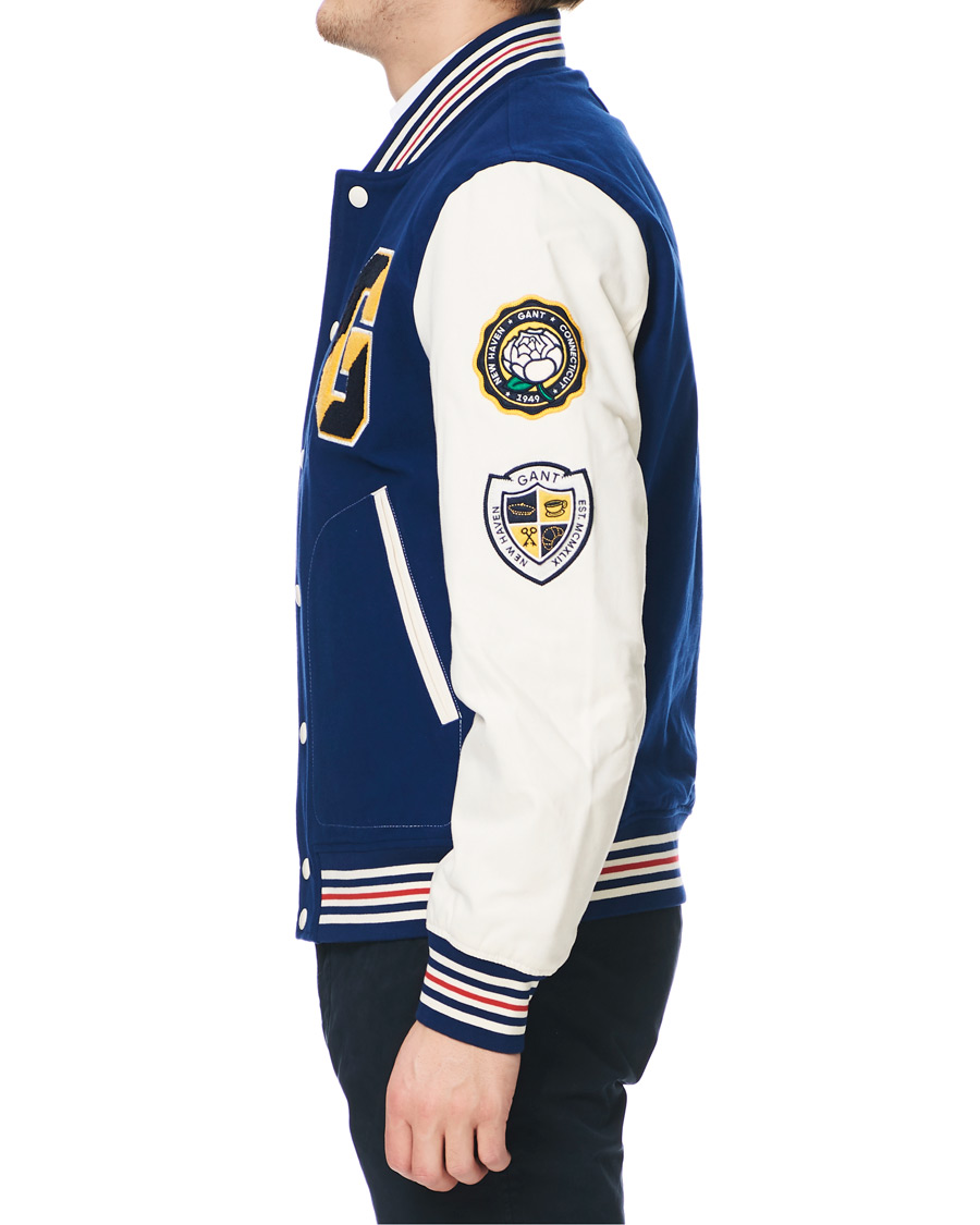 GANT Spring Varsity Jacket Deep Blue hos CareOfCarl.no