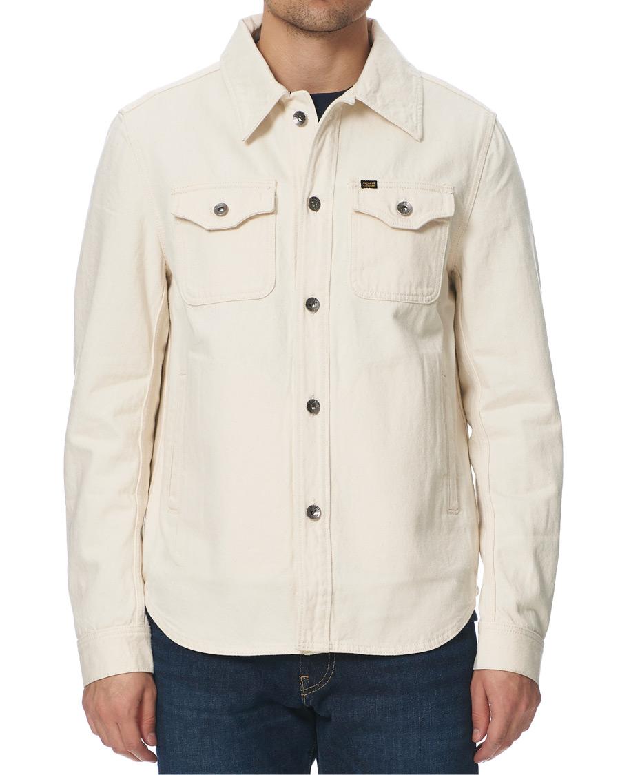Get Organic Cotton Denim Jacket Off White