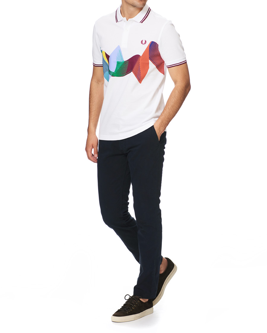 Fred Perry T Skjorte Abstract Sport White