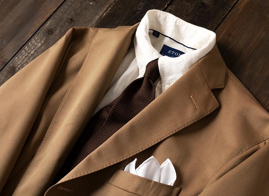 Eton Japanese Motif Print Shirt Skjorte Business Blå ETON